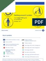 Getting Around London Large Print