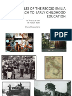 Principles of Reggio Emilia Approach to Early Childhood Powerpoint 2011