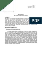 The Vernier and Micrometer Caliper