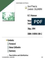 Ag Trees Livestock Calliandra Nri en Lp 117380