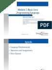 2.1 Module 2 Basic Java Programming Language
