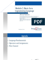 2.1 Module 2 Basic Java Programming Language