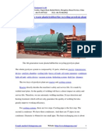 The 4th Generation Waste Plastic Rubber Tire Recycling Pyrolysis Plant