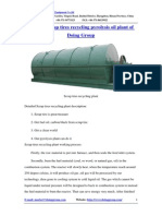 DY-1-20 Scrap Tires Recycling Pyrolysis Oil Plant of Doing Group