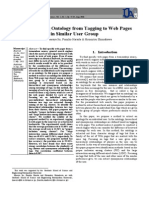 Extracting Ontology from Tagging to Web Pages in Similar User Group