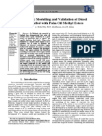 Dynamic Modelling and Validation of Diesel Engine Fuelled with Palm Oil Methyl Esters