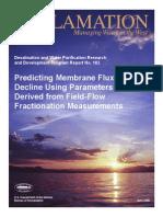 Report102 Predicting Membrane Flux Decline