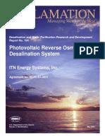 Report104 PV RO Desalination