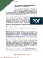 Instrucciones Cursos en Linea 2009-10