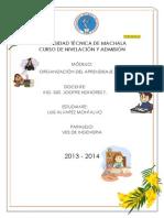 Portafolio Org. Aprendizaje