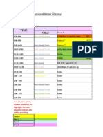 para schedule