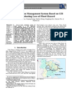The Information Management System Based on GIS for Evaluating Loss of Flood Hazard