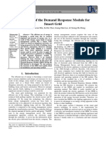 Design of the Demand Response Module for Smart Grid