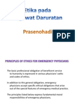 Ethic and Law in Emergency