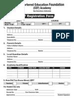 CEF Registration Form