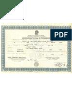 Diploma UFPE Ciencia da Computação