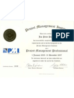 CERTIFICADO PMP do PMI