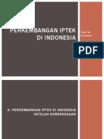 Perkembangan Iptek Di Indonesia m Erisman 12d