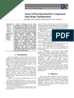 Design Improvement of Steering Knuckle Component Using Shape Optimization