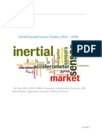 Global Inertial Sensors Market (2013 – 2018) – By Type (IMUs, INS & AHRS); Components (Accelerometer, Gyroscope, GPS, Magnetometer); Applications (Aerospace, Military & Defense) Brochure