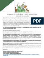 CALUMNIAS, DIFAMACIONES y MONTAJE Contra Pilar de Naranjo. 23 Dic 2013.