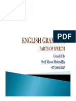 131230 - English Grammar - Parts of Speech