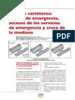 Tuneles Carreteros Salidas de Emergencia Accesos de Los Servicios de Emergencia y Cruce de Mediana