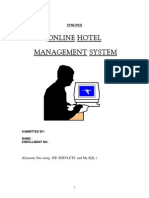 27553617 Synopsis of Hotel Management System