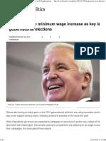 Democrats Eye Minimum Wage Increase as Key Issue in 2014 Gubernatorial Elections _ Fox News