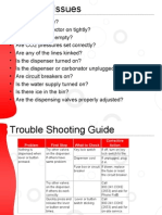 Dispenser Trouble Shooting Guide