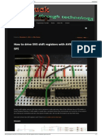 How to Drive 595 Shift Registers With AVR Hardware SPI Jum