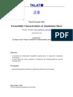 Form Ability Characteristics of Aluminium Sheet