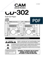 TASCAM Cd302 Manual