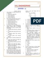 Civil 2001 Paper 1