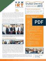 Dubai Derma2013 Post Show Report