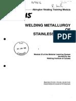 Welding Metallurgy of Stainless Steels 12363