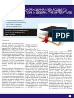 Access to Printing Education in Nigeria