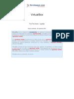 Utilisation Virtualbox