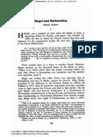 Avineri, Shlomo - Hegel and Nationalism (1962) (Art)