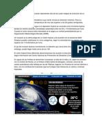 cuatro etapas de evolución de un ciclón tropical