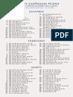 Bībeles lasīšanas plāns 2014