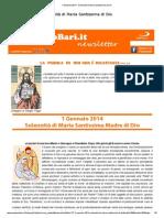 1 Gennaio 2014 - Solennità di Maria Santissima di Dio