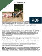 Amenazas de Muerte a Claretiano Por Proyecto Minero 6564