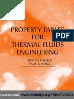 PROPERTY TABLES ThermalFluidsEngineering