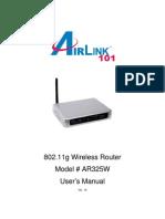 Ar325w Manual