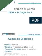 Cultura de Negocios II -- Sesion I