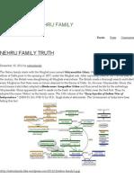 Nehru Family _ the Truth of Nehru Family