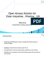 Open Access ( Power Trading ) Presentation