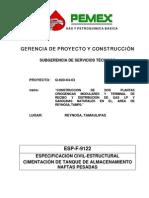 CIMENTACION DE TANQUES