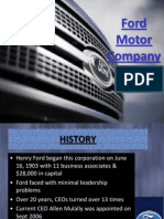 Ford Motor Company - A Case  Study Presentation with transitions